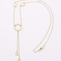 Delicate 10K Yellow Gold Flower Necklace