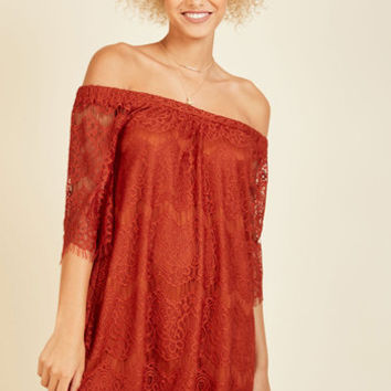 We're Just Palette Around Lace Dress