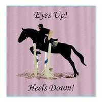 Eyes Up! Heels Down! Horse Shower Curtain> Horse Shower Curtains> Patty's Pet Art