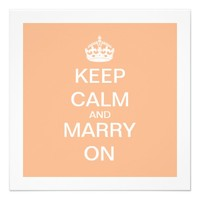 KEEP CALM AND MARRY ON | WEDDING INVITATIONS