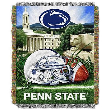 """Penn State Nittany Lions NCAA Home Field Advantage 48""""x 60"""" Woven Tapestry Throw"""