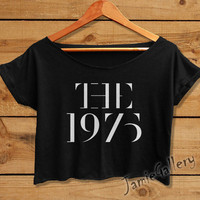 The 1975 Crop Top Women logo tshirt Crop Tee shirt Black White T1903JG