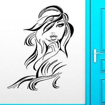 Wall Stickers Vinyl Decal Sexy Girl Beautiful Hair Stylist Hairdresser Unique Gift (ig1872)