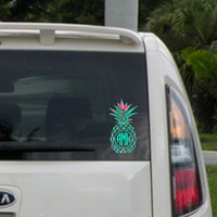Pineapple Monogram Decal, Lilly Pulitzer Inspired!!