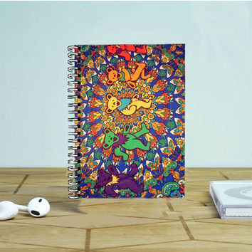 Grateful Dead Tie Dye Tapestry Photo Notebook Auroid