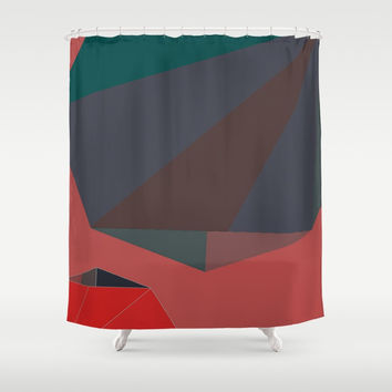 Shape Play 2 Shower Curtain by duckyb