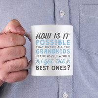 Best Grandkid In The Whole World Mug Cup Gifts to Grandpa For Father's Day