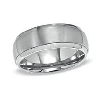 Men's 8.0mm Engraved Titanium Wedding Band (40 Characters)