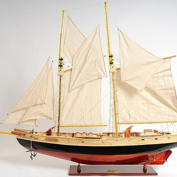 Bluenose II painted Medium Hancrafted Sail Boats Models