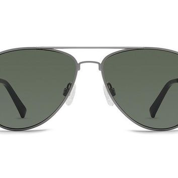 VonZipper - Statey Charcoal Gloss Sunglasses / Wild Vintage Grey Polarized Lenses