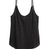 Linen Jersey Camisole Top - from H&M