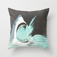 Great White Throw Pillow by Chase Kunz