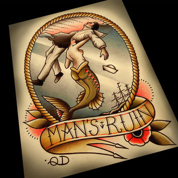 Man's Ruin Tattoo Art Print