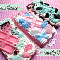 Custom Candy Themed Decoden Phone Case / Made to Order Custom Decoden Case / Kawaii Decoden Case