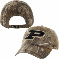 '47 Brand Purdue Boilermakers Realtree Camo Clean Up Adjustable Hat