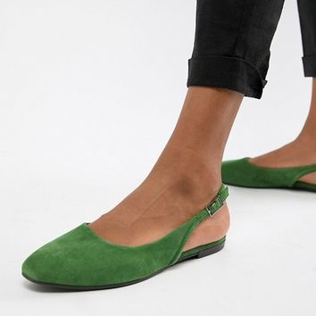 Vagabond Ayden Suede Pointed Slingback Shoes at asos.com