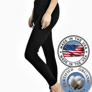 Organic Cotton Leggings - High Waisted