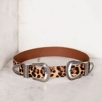 Wild Side Leopard Belt