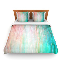 "Iris Lehnhardt ""Color Wash Teal"" Blue Turquoise Lightweight Duvet Cover"