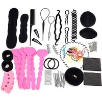 Hair Styling Clip Hairpin Hair Comb Women Band Braid Tool Bun Maker Foam  l_f (Color: Black) = 5658501825