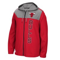 adidas Chicago Bulls Fan Gear Full-Zip Hoodie