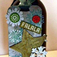 Fa La La Handmade Holiday Bottle Gift Tag