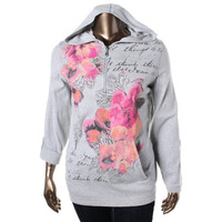 Style & Co. Womens Plus Knit Floral Print Pullover Top