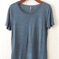 Swishy Swirly Tomboy Tee, Charcoal