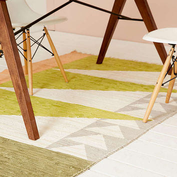 Streva Printed Rag Rug - Urban Outfitters