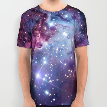 Nebula Galaxy All Over Print Shirt by RexLambo