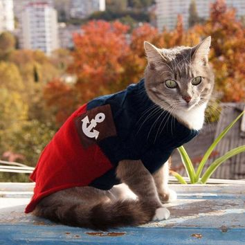 Autumn Spring  Knitted Cat Sweater