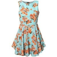 Rare Mint Floral Cut Out Dress