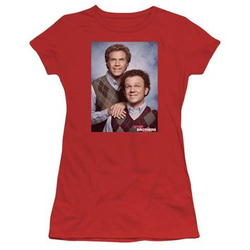 Step Brothers Juniors T-Shirt Portrait Red Tee