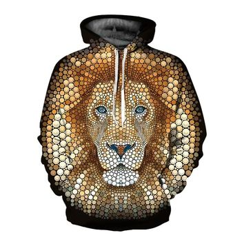 Newest Dot Teen Wolf 3D Hoodies Sweatshirts Men Women Lion Hoodie with Hat Casual Tracksuits Men Hoodies Sweatshirts Tops
