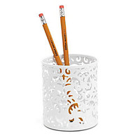 Realspace Brocade Pencil Cup White by Office Depot