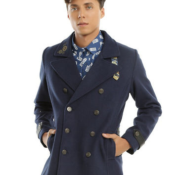 Doctor Who Embroidered TARDIS Guys Peacoat