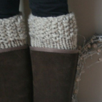 The Polar Boot Warmers....A KNITTING PATTERN...PDF...Beginner Level