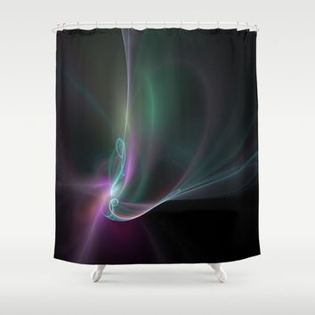 Fractal - 32 Multi Color Shower Curtain by Henrik Lehnerer