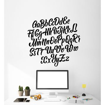 Vinyl Wall Decal ABC Alphabet Letters Study Primary School Stickers Mural (g280)