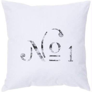 Throw Pillow - White And Black