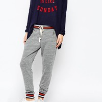 SUNDRY | Sundry Stripe Rib Tailored Sweatpants at ASOS