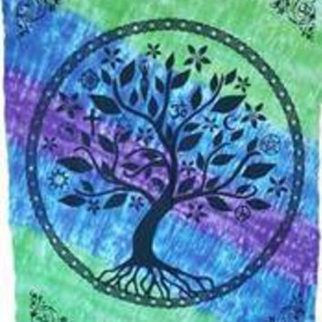 "58"" x 82"" Tree of Life Multifaith tapestry"