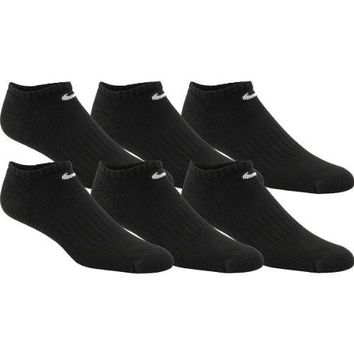 Nike Performance Cushion No Show Socks (6 Pack), Medium, Black/White