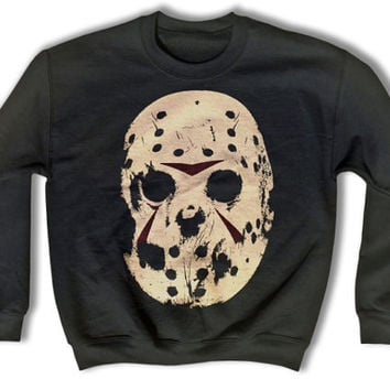 Hockey Mask Sweatshirt - Cult 1980s Sweatshirt for Men and Women