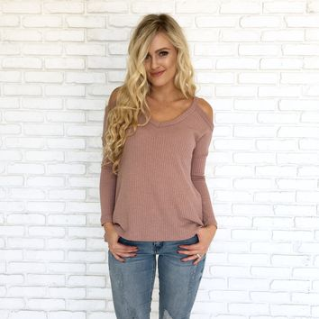 All Mine Sweater Top in Blush Pink
