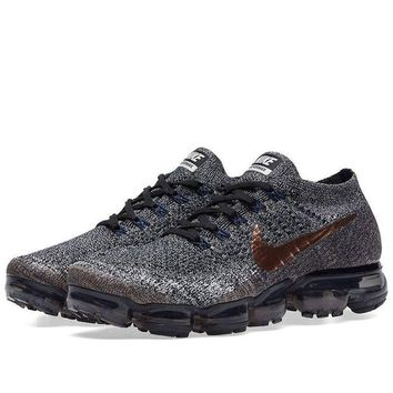 DCCK Men's Nike Air Vapormax Flyknit Black/Metallic Red Bronze | X-Plore Pack 849558 010 size 12