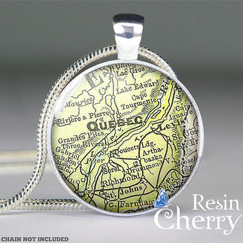 Quebec map jewelry pendant ,Canada map necklace pendants,Quebec map pendant charm- M2003CP