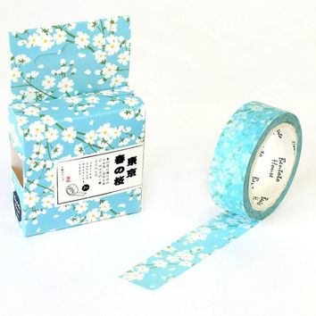 JB205  The Tokyo Spring Flowers Animals Decorative Washi Tape DIY Scrapbooking Masking Tape School Office Supply