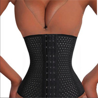 Breathable Hot Girls Waist Training Cincher Corset Girdle Body Trainer Shaper Shapewear  Corsets Cincher 4 Spiral Steel Boned = 1929991812