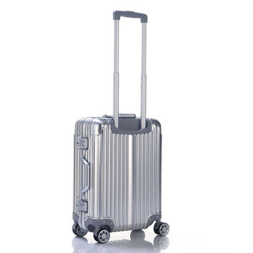 """Kron Aluminum Magnesium Alloy Frame and Hardshell 20 Carry-On & 24 Checked Suitcase Luggage with Dual Blade Omni-Directional Spinner Wheels 20"""" Carry-On Suitcase '"""